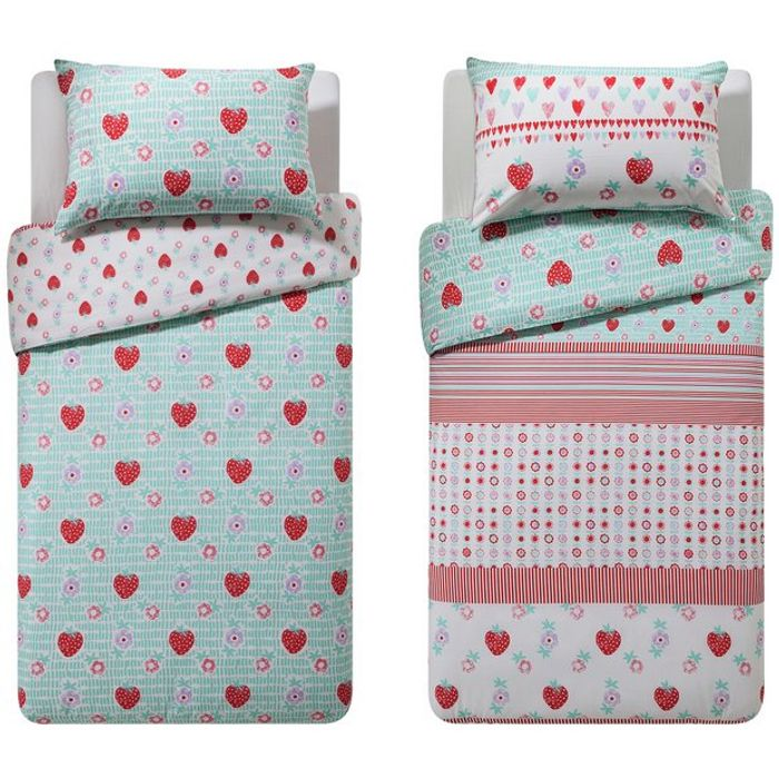 Argos Home Strawberry Twin Pack Bedding Set