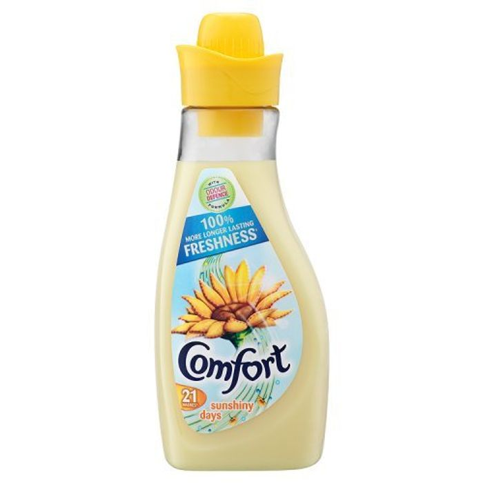 Comfort Sunshiny Days Concentrate Fabric Conditioner, 750ml (Pack of 21)