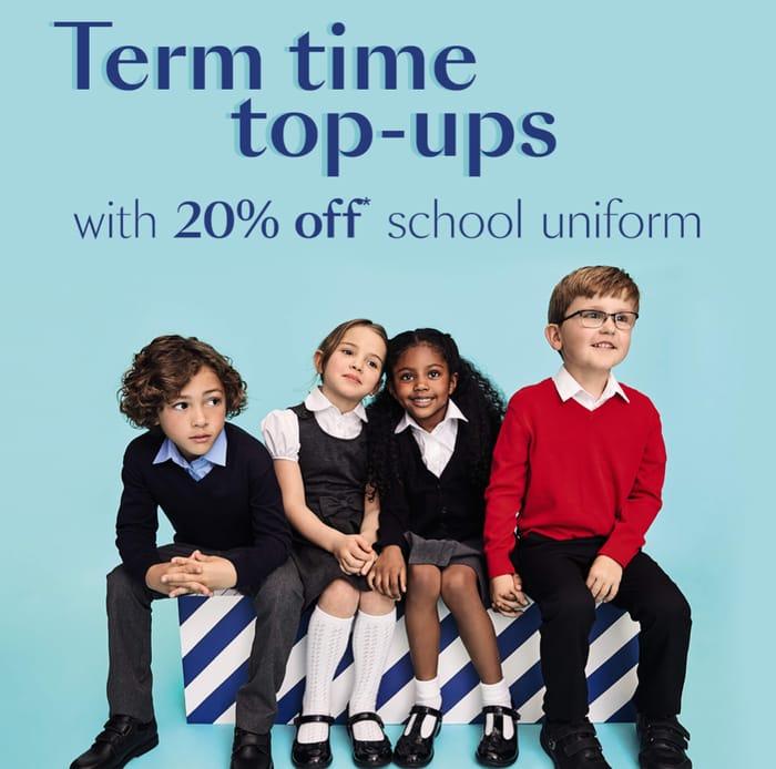 20% off Kids' School Uniform!