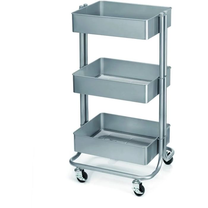 *HALF PRICE* Grey Three Tier Storage Trolley
