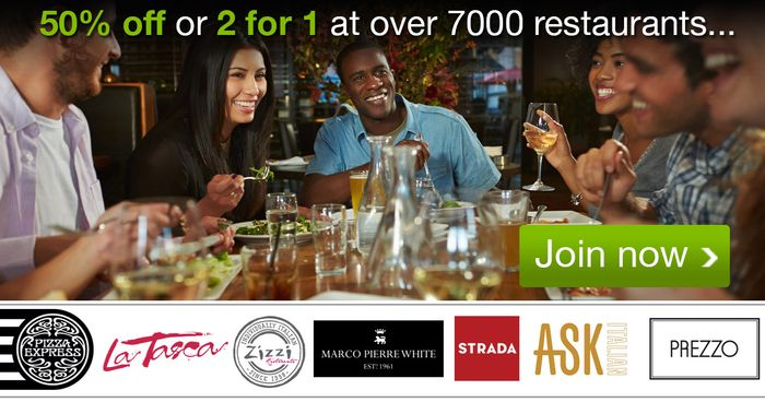 Free 3 Month tastecard - 50% off at over 6,000 restaurants