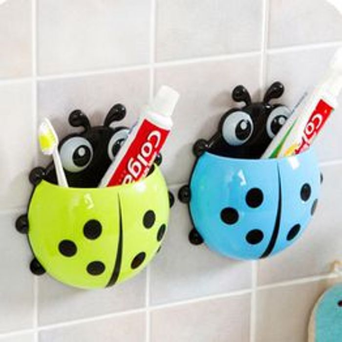 Ladybug Toothbrush Holder Suction Ladybird Toothpaste Wall Sucker Holder