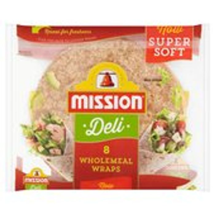 Mission Deli Wholemeal Wraps 8 per Pack