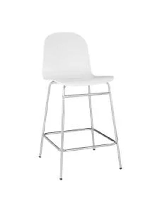House by John Lewis Fluent Bar Chair, White
