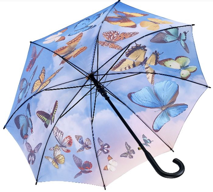 Galleria 'Swirling Butterflies' Umbrella