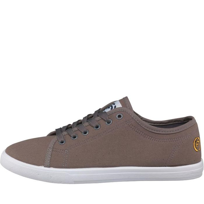 Bargain! Firetrap Mens Swift Canvas Trainers Taupe at M and M Direct