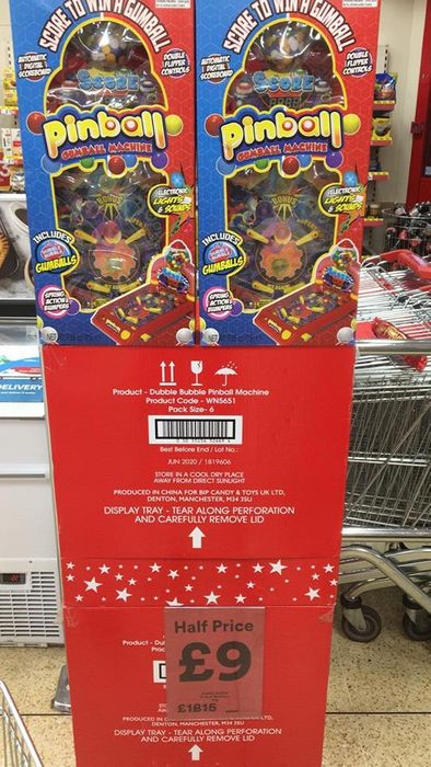 Giant Pinball Machine - Half Price £9 - Instore Iceland