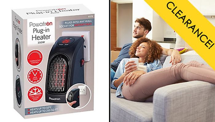 Mini Portable Fan Heater Only £17.98 Delivered