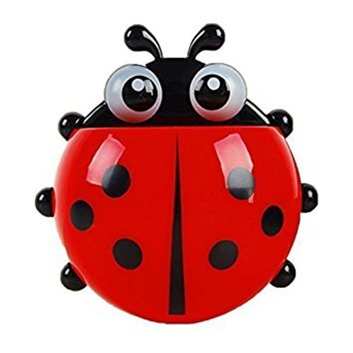 Convenient Bathroom Toothbrush Stuff Ladybug Wall Suction Holder Discount