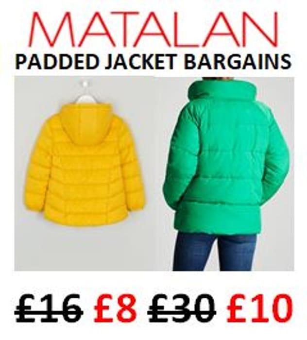 63a0a03b87cc Padded Jacket Bargains at MATALAN - from Just £8 KIDS & £10 ADULTS ...