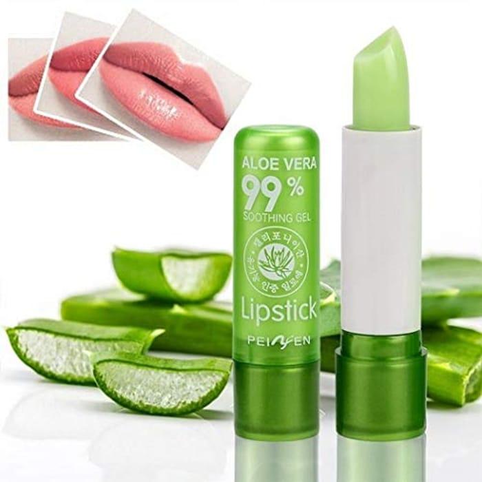 Aloe Color Changing Lips Balm Waterproof Moisturizing Lipstick Cosmetics