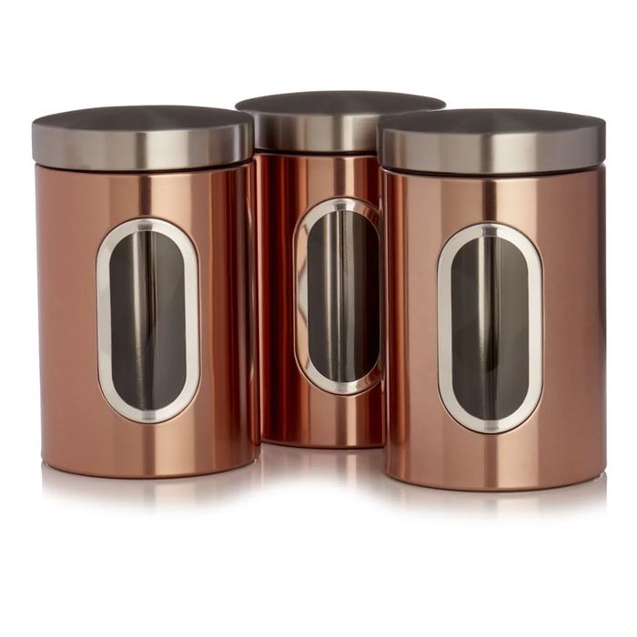 Copper Tea and Coffee Cannisters