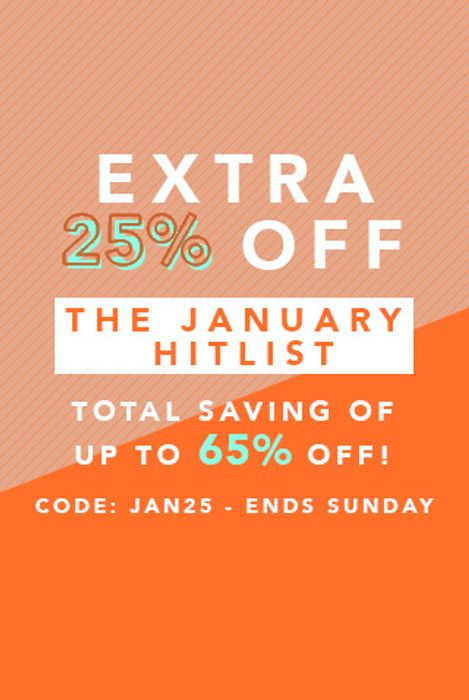 Extra 25% off January Hitlist