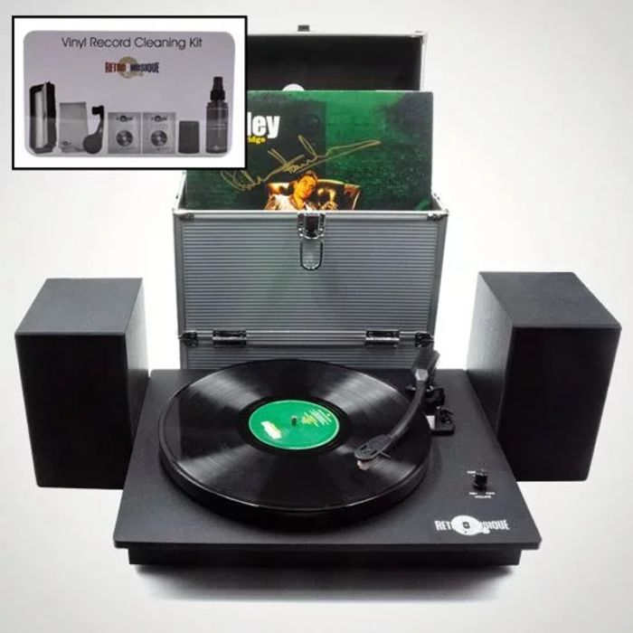 Retro Musique Record Player Set