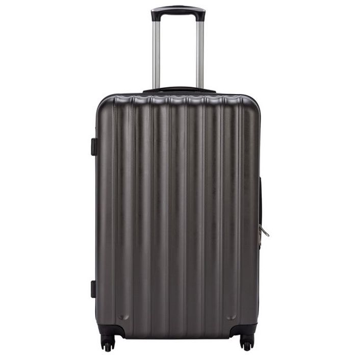 Bargain! Large Expandable 4 Wheel Suitcase - Charcoal at Argos