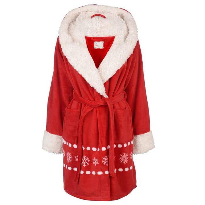 The Spirit of Christmas Christmas Fleece Robe Ladies