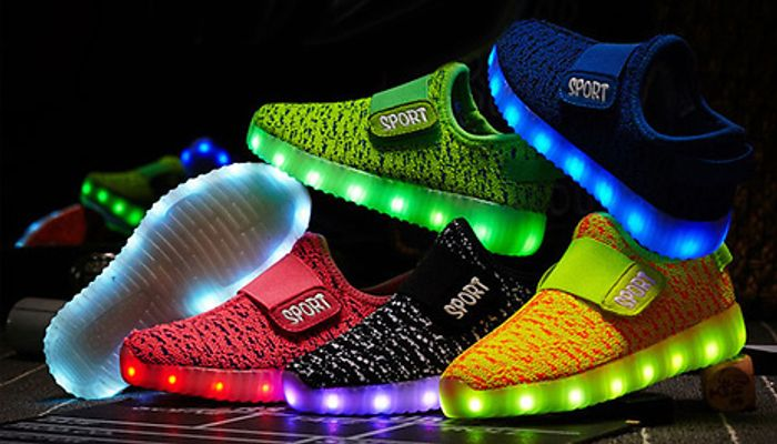 Kids LED Coloured Trainers - 8 Colours