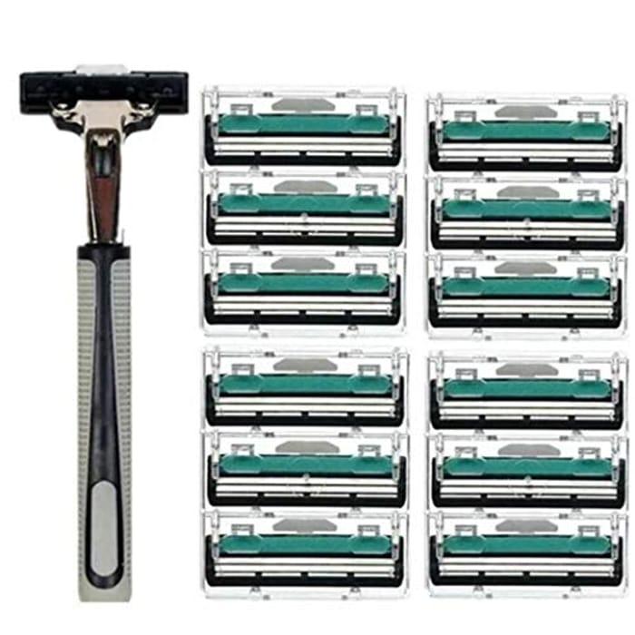 12Pcs Men Shaving Razor Blades
