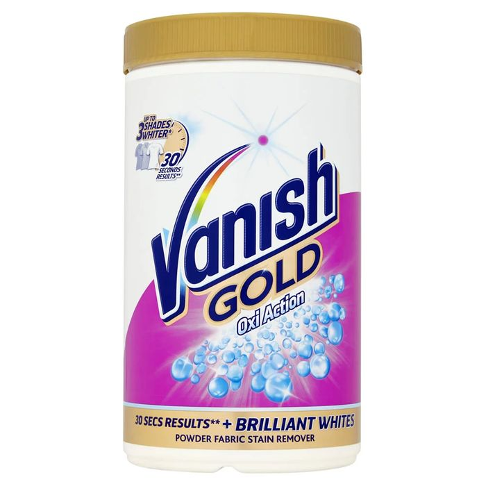 Half Price - Vanish Oxi-Action Gold Fabric Stain Remover White 1.35kg