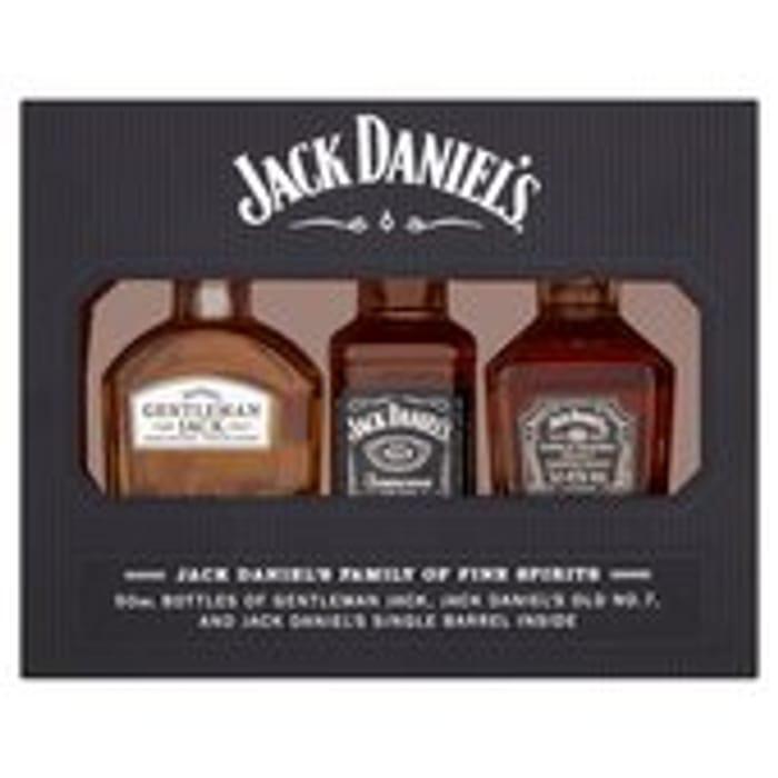 Jack Daniel's Family of Fine Spirits (Abv 41.67%) 3 X 5cl
