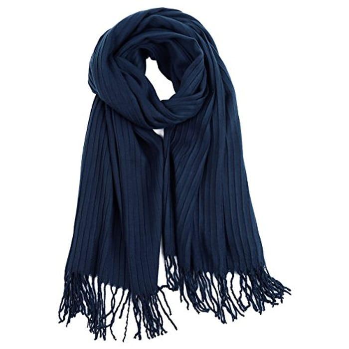 60%Off VBIGER Women Winter Scarf Chenille Warm Soft Knitted Scarf Shawl Wrap