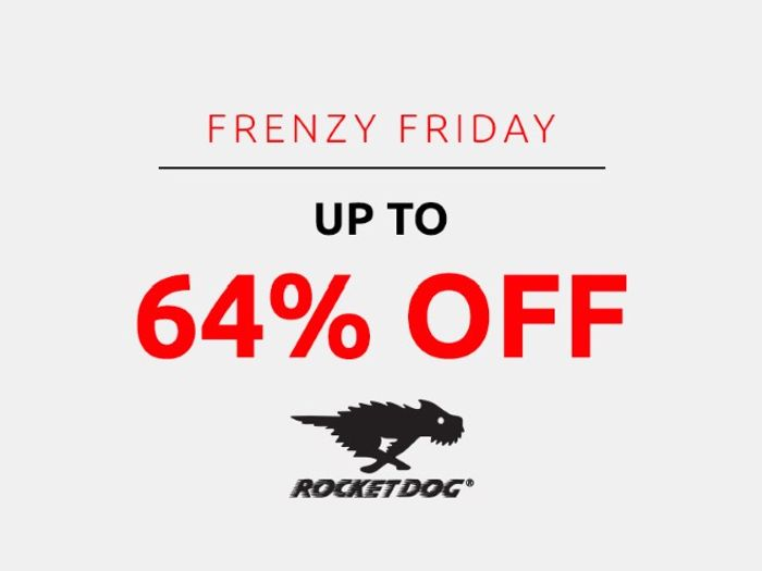 Save up to 64% on Rocket Dog   Frenzy Friday