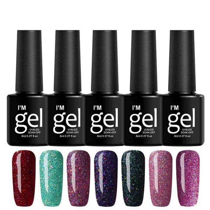 19 Colors Long Lasting Glitter Gel Nail Polish