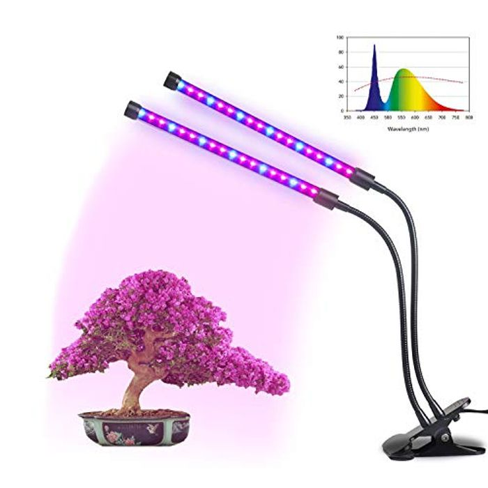 18W Plant Growing Lamps, Dual Head 38 LED Plan Glow Light