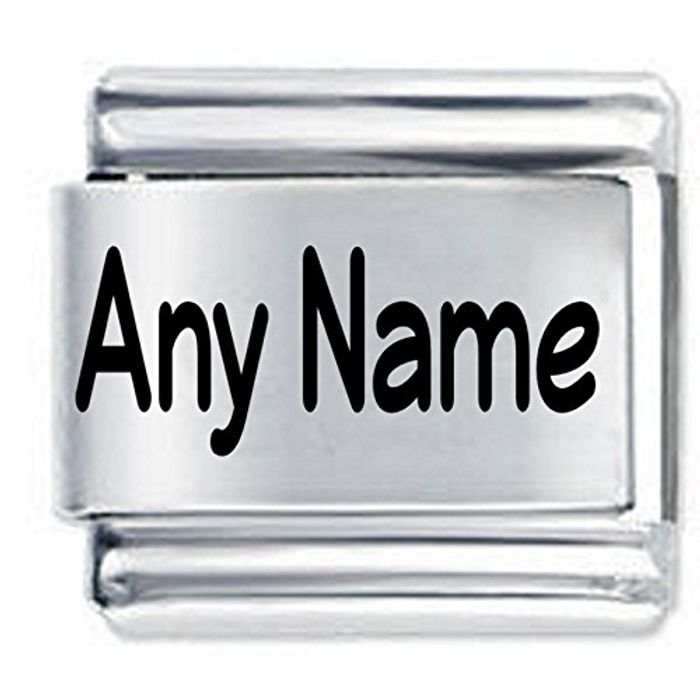 Personalised Custom Made Etched Italian Charm
