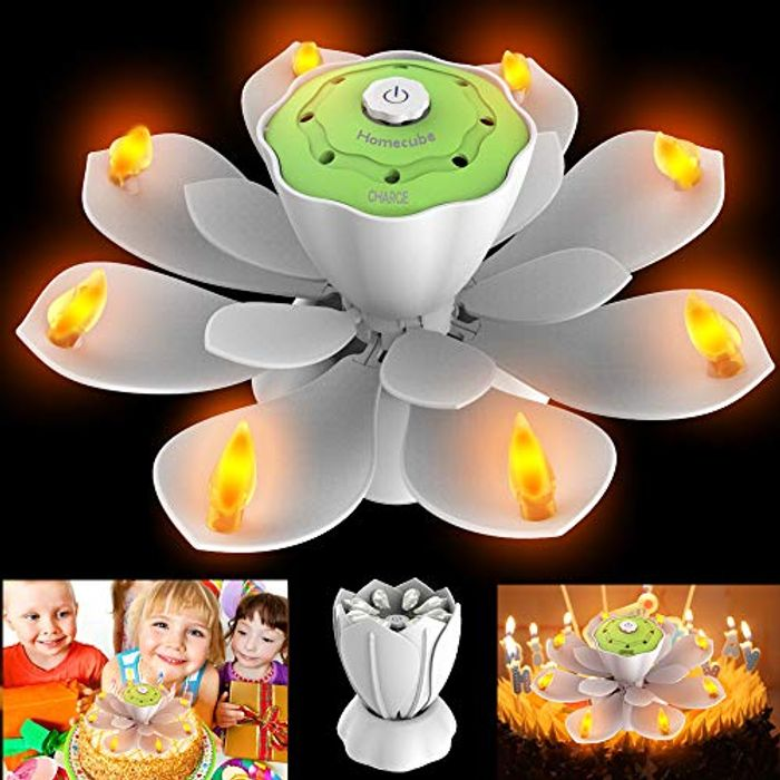 LED Birthday Candles Flameless Flickering Musical