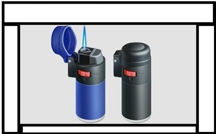 Rubber Coney Lighter with Flame Lock, Windproof Lighter, Refillable Lighter