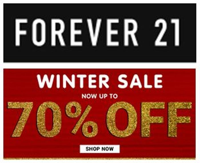 FOREVER 21 SALE - up to 70% Off