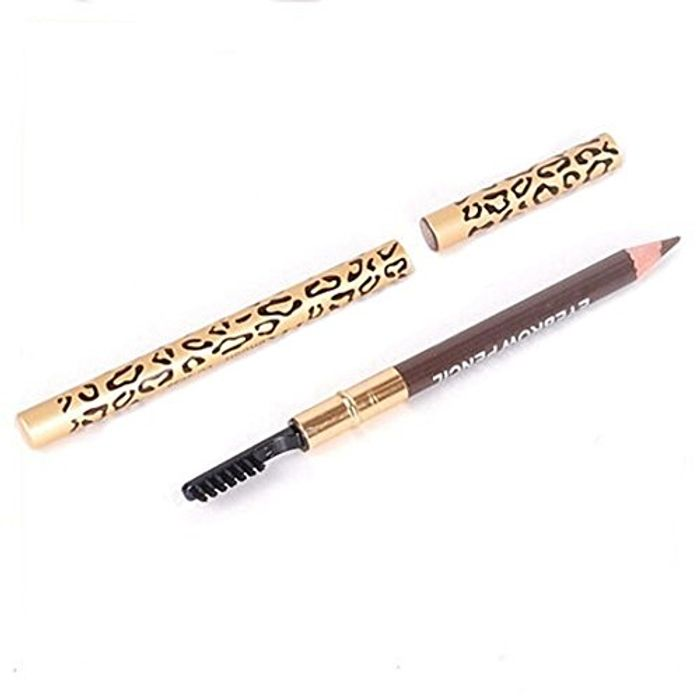 Perfect Waterproof Longlasting Eyeliner Eyebrow Eye Brow Pencil & Brush Makeup