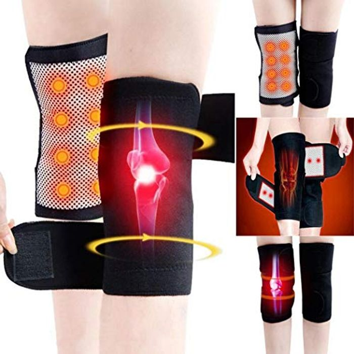 1 Pair Self Heating Kneepad Knee Support Belt Magnetic Tourmaline Therapy