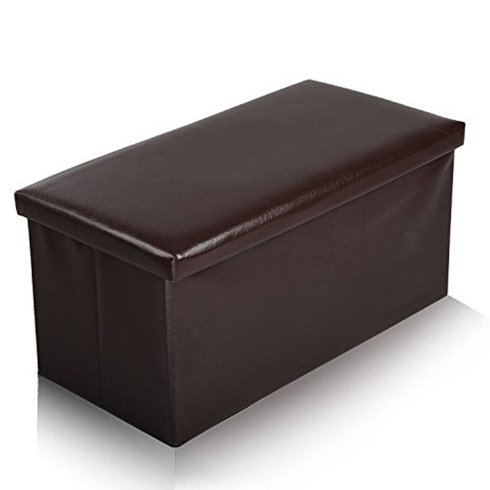 Great Value Large Faux Leather Ottoman Free Delivery