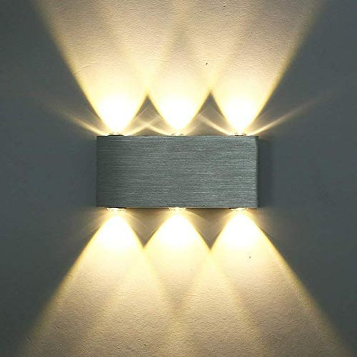 6W Modern LED Wall Light up down Wall Lights Living Room Bedroom Warm White