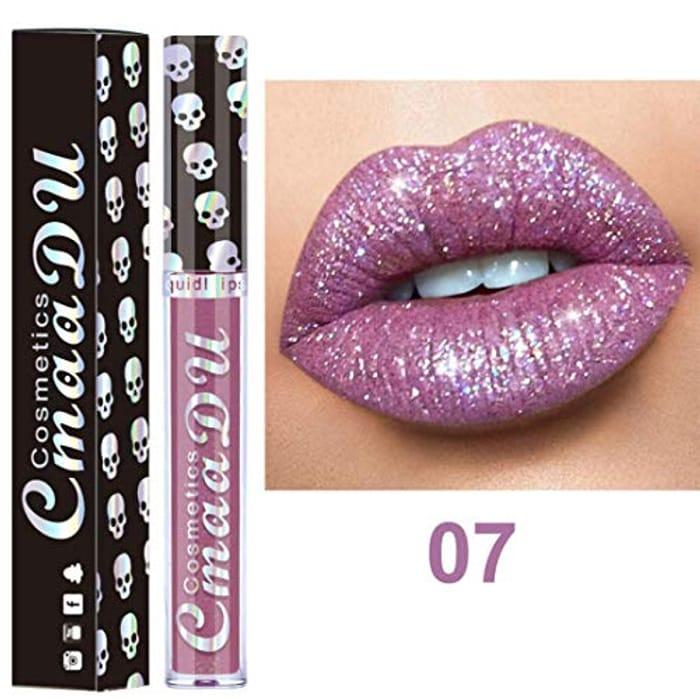 8 Colors Nude Metallic Matte Velvet Glossy Lip-Gloss Shining Lipstick Lip Cream