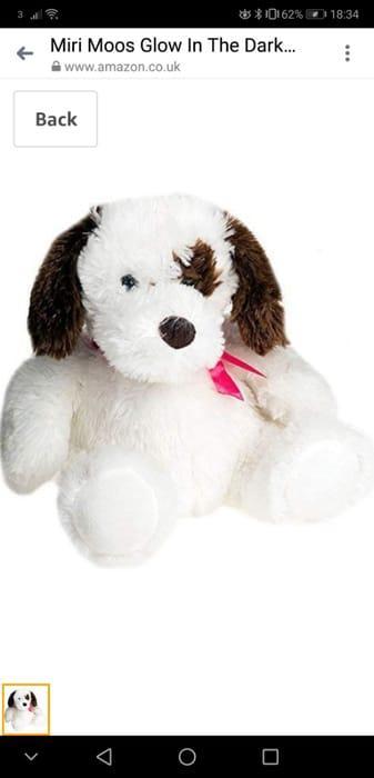 Miri Moos Glow in the Dark Puppy