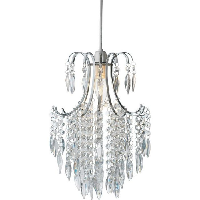 Bargain! Argos Home Kirsty Beaded Shade - Clear at Argos