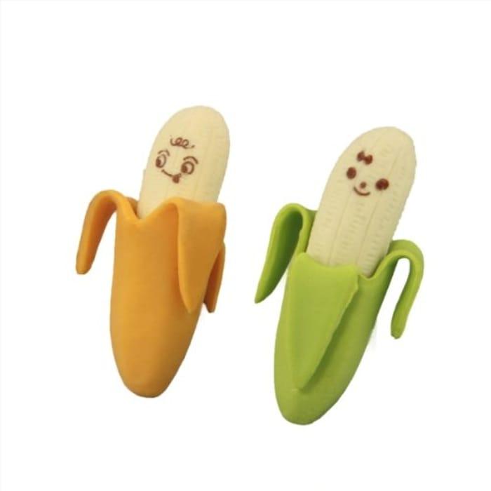 2 X Cute Banana Pencil Rubber Erasers