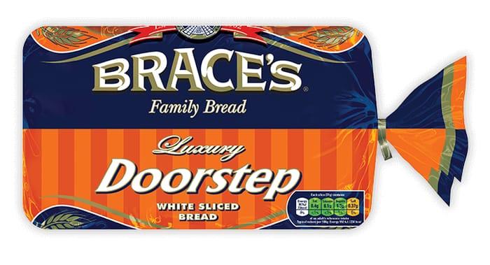 Brace's Family Luxury Doorstep White Sliced Bread 800g