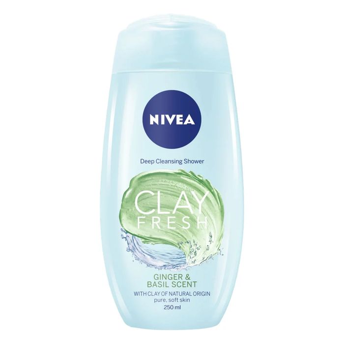 Nivea Clay Fresh Ginger & Basil Body Wash 250ml