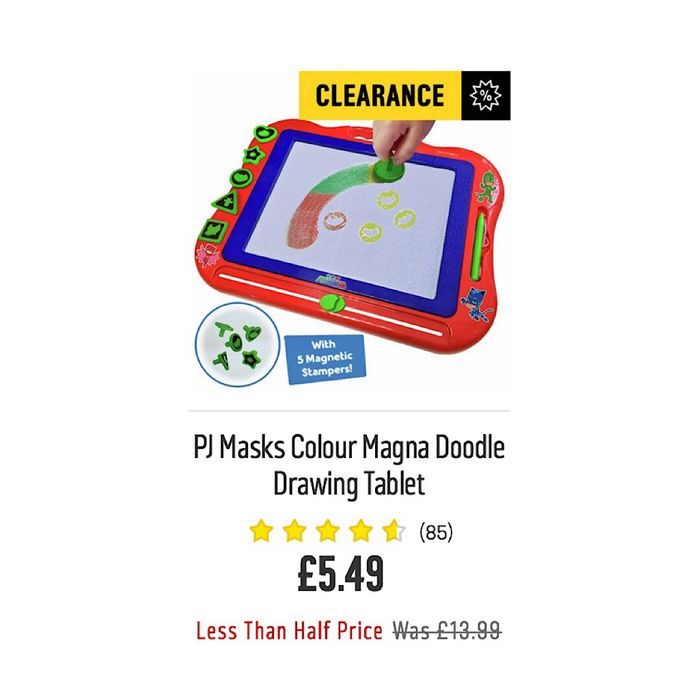 PJ Masks Colour Magna Doodle Drawing Tablet