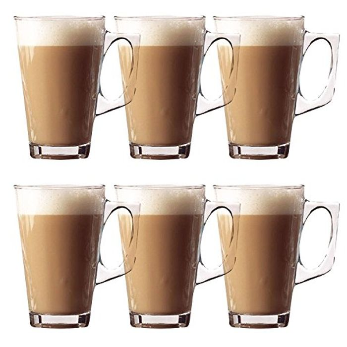 Set of 6 Latte Glasses