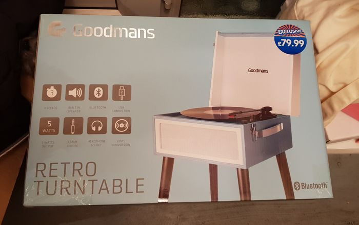 GOODMANS Retro Turntable Blue or Red