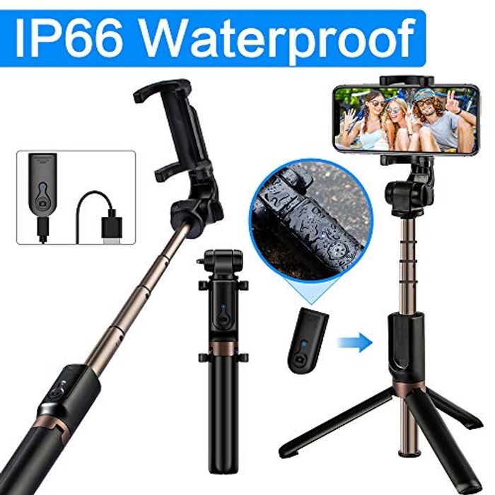 *STACK DEAL* Waterproof Selfie Stick Tripod Bluetooth Tripod Selfie Stick