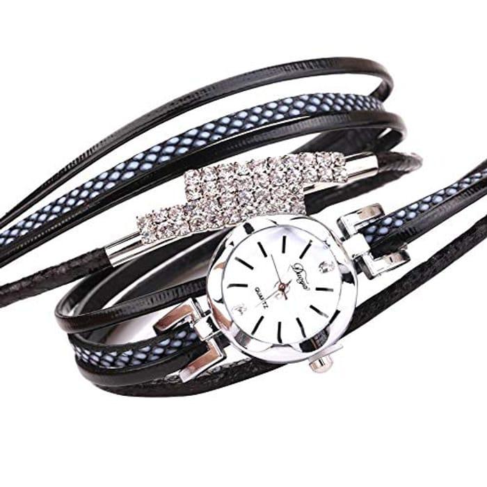 Women Multi-Layer Strap Bracelet Wristwatch