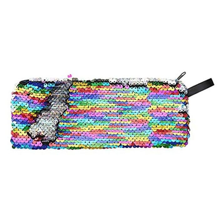 Women Sequins Clutch /Cosmetics Bag /Pencil Case )