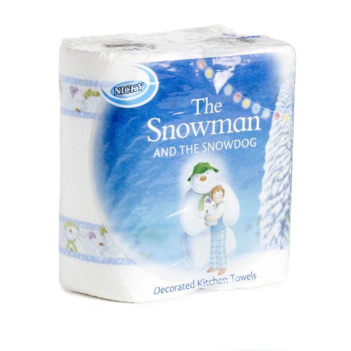 Nicky the Snowman and the Snowdog Kitchen Roll Decorated X2 Rolls