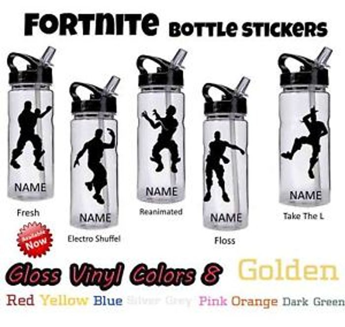 Fortnite Personalized Vinyl Stickers For Drinks Bottle 1 79 At